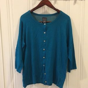NWT Chico's blue 3/4 sleeve cardigan